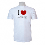 Camiseta blanca. I Love Alpujarra