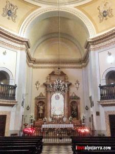 Interior del Santuario de Tices