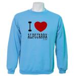 Sudadera basica celeste. I Love Alpujarra