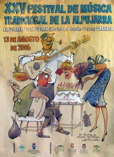 Cartel del 25º Festival de la Alpujarra
