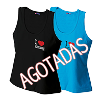 Camiseta tirantes. I Love Alpujarra